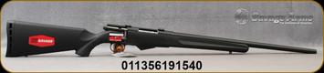 "Savage - 222Rem - Model 25 Walking Varminter - Bolt Action Rifle - Black Synthetic Stock/Black Finish, 22""Barrel 4 Round Detachable Magazine, Mfg# 19154"