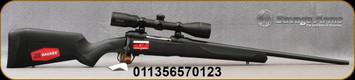 "Savage - 7mm-08Rem - Model 110 Engage Hunter XP Package - Bolt Action Rifle - Black Synthetic Stock/Matte Black Finish, 22""Barrel, 4 Round Detachable magazine, Bushnell Engage 3-9x40 Scope, Mfg# 57012"
