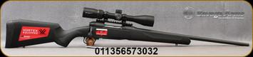 "Savage - 243Win - Model 110 Apex Hunter XP - Bolt Action Rifle - Black Synthetic Stock/Matte Black Finish, 22""Barrel, 4 Round DBM, AccuTrigger, Vortex Crossfire II 3-9x40 Riflescope, Mfg# 57303"
