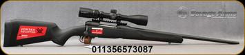 "Savage - 270WSM - Model 110 Apex Hunter XP - Bolt Action Rifle - Black Synthetic Stock/Matte Black Finish, 24""Barrel, 2 Round DBM, AccuTrigger, Vortex Crossfire II 3-9x40 Riflescope, Mfg# 57308"