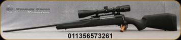"Savage - 7mmRM - Model 110 Apex Hunter XP - LH - Bolt Action Rifle - Black Synthetic Stock/Matte Black Finish, 24""Barrel, 3 Round DBM, AccuTrigger, Vortex Crossfire II 3-9x40 Riflescope, Mfg# 57326"