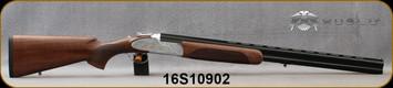 "Huglu - 12Ga/3""/28"" - 103F - O/U, Turkish Walnut/Silver Receiver w/gold inlay birds/Gloss Black Chrome Barrel w/Chrome-Lined Bore, single trigger, 5pc. Mobile Choke, Sling Swivel Studs, SKU# 8681715390406, S/N 16S10902"