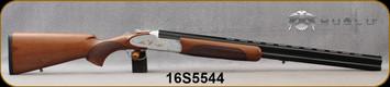 "Huglu - 12Ga/3""/28"" - 103F - O/U, Turkish Walnut/Silver Receiver w/gold inlay birds/Gloss Black Chrome Barrel w/Chrome-Lined Bore, single trigger, 5pc. Mobile Choke, Sling Swivel Studs, SKU# 8681715390406, S/N 16S5544"