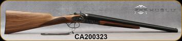 "Huglu - 12Ga/3""/20"" - 201HRZ - Hammer Sidelock - SxS Double Trigger - Grade AA English Grip Turkish Walnut/Case Hardened Receiver/Chrome-Lined Barrels, SKU# 8681744308946-2, S/N CA200323"