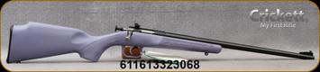 "Keystone - 22LR - Crickett Scope Package - Bolt Action Single Shot Rifle - Purple Synthetic/Blued Finish, 16.1""Barrel, Scope, Base and Mount, Mfg# KSA2306PKG"