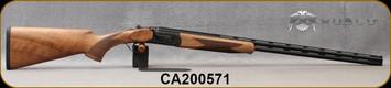 "Huglu - 410Ga/3""/28"" - 103DE Mini - O/U w/Ejectors - Grade AA Turkish Walnut Stock w/Schnabel Forend/Hand Engraved Case Coloured Receiver/Chrome-Lined, 8mm Vent rib Barrels, Fixed choke (F,IM) SKU# 8682109405058-2, S/N CA200571"