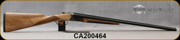 "Huglu - 20Ga/3""/26"" - 202B - SxS - Grade AA Turkish Walnut English Stock/Case Hardened Receiver/Chrome-Lined Barrels, Double Trigger, Mobile Chokes, SKU# 8681715394817-2, S/N CA200464"