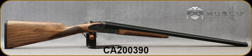 "Huglu - 20Ga/3""/26"" - 200AC - SxS Single Trigger - Grade AA Turkish Walnut English Grip Stock/Case Hardened Receiver w/Gr5 Hand Engraving/Blued Barrels, 5pc. Mobile Choke, SKU# 8681715398297-2, S/N CA200390"