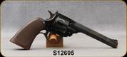 """Consign - H&R - 22LR CTG - Sportsman - Single Action - Walnut Grips/Blued Finish, 6""""Barrel"""