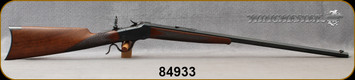 """Consign - Winchester - 22WCF - Model 1885 Low Wall Deluxe - Walnut Stock/Blued Finish, 26""""Octagonal Barrel, Tang Mounted peep-sight, 1899 Production Year, gun has been restored"""