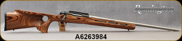 """Consign - Remington - 20Tactical - Model 700 Custom - Brown Laminate Thumbhole Stock/Matte Stainless, 25""""Ted Gaillard Barrel,1:10""""Twist, gunsmithing done by Suttill's SK. c/w Redding 2-Die Set, 50pc.Dakota Brass - Only 350rds fired"""