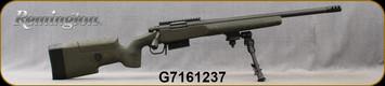 "Consign - Remington - 308Win - Model 700 AAC-SD - Custom Green MacMillan Stock/Blued, 20""Threaded Barrel, 3port muzzle brake, 5rd detachable magazine, 20MOA rail, Versa Bipod - Only 20 rounds fired"