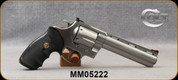 """Consign - Colt - 44Mag - Anaconda - Double-Action 6-Shot Revolver - Black Rubber Grips/Stainless Finish, 6""""Barrel, Red Ramp Front, Adjustable Rear sights - Mfg 1991 - Low rounds fired - in original case"""