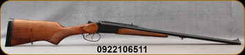 """Consign - Baikal - 45-70Govt - MP-221 - SxS Double Rifle - Wood Stock/Blued Finish, 23.5""""Barrels, double triggers - Only 50 to 60 rounds fired - In Grey/Green Kolpin soft case"""