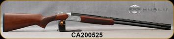 "Huglu - 28Ga/2.75""/28"" - Hawk - O/U - Extractors - Turkish Walnut/Hand-Engraved Silver Receiver/Chrome-Lined Barrels, 8mm Vent Rib, SKU: 8682109401029, S/N CA200525"