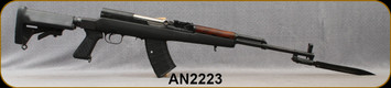 """Consign - Ishevsic - 7.62x39 - SKS - Black Synthetic stock w/Adjustable LOP/Blued, 20""""Barrel, c/w Bayonet, extra pistol grip, Tapco Mag - Unfired, in black Flambeau hard case"""