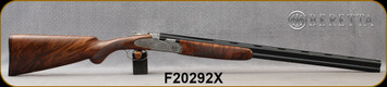 "Beretta - 20Ga/3""/28"" - Model 687 EELL Classic Field -  Premium-quality European walnut Stock w/Prince of Wales Grip & Semi-Beavertail Forend/super-fine classic game scene engraved receiver/Blued barrels, Mfg# 3DU8TX64AA251 - Please note barrels have"