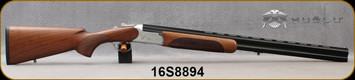"Huglu - 12Ga/3""/28"" - 103C - O/U - Extractors - Turkish Walnut Standard Grip Stock w/Semi-Beavertail Forend/ Silver Receiver w/Gold inlaid birds/Chrome-Lined Barrels, 5pc. Mobile Choke, Sling Swivel Studs, Sku: 8681715390215, S/N 16S8894"