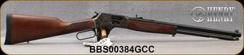 "Henry - 44Mag/44Spl - Big Boy Color Case Hardened Side Gate - Lever Action - American Walnut/Case Hardened Steel Frame/Blued, 20""Oct. Barrel, Brass Bead Front, Fully Adj. Semi-Buckhorn w/ Diamond Insert rear sight, Mfg# H012GCC, S/N BBS00384GCC"
