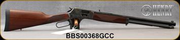 "Henry - 44Mag/44Spl - Big Boy Color Case Hardened Side Gate - Lever Action - American Walnut/Case Hardened Steel Frame/Blued, 20""Oct. Barrel, Brass Bead Front, Fully Adj. Semi-Buckhorn w/ Diamond Insert rear sight, Mfg# H012GCC, S/N BBS00368GCC"