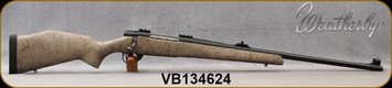 """Consign - Weatherby - 375H&H - Vanguard Dangerous Game Rifle(DGR) - Tan w/Black Web Composite Stock/Blued, 24""""Barrel, Adj.NECG rear, hooded front ramp by Williams Gun Sight Company,c/w bases, Dies, 100pcs.Brass - less than 400rds fired"""
