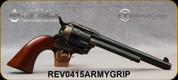 "Taylor's & Co - Uberti - 45LC - Gunfighter - Smooth Walnut Army Grips/Case Hardened Frame/Blued Finish, 7.5""Barrel, Mfg# 0415ARMYGRIP"