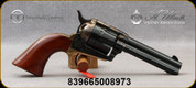 "Taylor's & Co - Uberti - 22LR - Ranch Hand - Single Action - 6-round Revolver - Walnut Grips/Case Hardened Finish/Brass Backstrap & Trigger Guard/Blued, 4.75"" Barrel, Mfg# 0470"