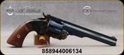 "Taylor's & Co - Uberti - 38Spl - Top Break Schofield Revolver - Walnut Grips/Case Hardened Frame/Charcoal Blue Finish, 7"" Barrel, 6 Shot, Mfg# REV0857C09"