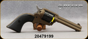 "Consign - Ruger - 22LR - Wrangler - SA Revolver - Black Synthetic Checkered Grips/Burnt Bronze Cerkote, 4.6""Barrel, Blade front sight, Mfg# 02004 - New, in original box"