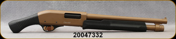 """Consign - Akkar - Churchill - 12Ga/3""""/15"""" - Shockwave - Pump Action Shotgun - Birds Head Grip & Synthetic Stock/Barrett Brown Finish, 4rd Capacity, Rifle Front Sight, Fixed Cylinder(Slug), Includes Scabbard - Only 2 rounds fired - in original box"""