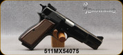 """Used - Browning - 9mm - Hi-Power - Single-Action Semi-Auto - Brown Checkered Grips/Blued Finish/Stainless, 4 7/8""""Barrel, (3) magazines - in original case"""