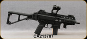 """Used - B&T AG - 9mm - APC-9 - Semi Auto - Blk Folding Stock/Blk Finish, 6.89""""Barrel, 1:10"""",Upgraded Geissele SD-E Trigger,c/w Aimpoint Micro T-1 Red Dot,Cleaning kit,Scalarworks Optic Mount,(4)5/30magazines,(1)5/15magazine-only 70rds fired - in blk h"""