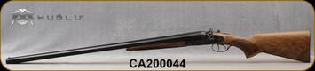"Huglu - 12Ga/3""/30"" - 201HRZ - SxS - Grade AA Turkish Walnut Standard Grip/Case Hardened/Chrome-Lined Barrels, Double Trigger, 5pc. Ventus Mobile Choke, SKU# 8681715392240-2, S/N CA200044"