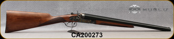 "Huglu - 12Ga/3""/20"" - 201HRZ - Hammer Sidelock - SxS Double Trigger - Grade AA English Grip Turkish Walnut/Case Hardened Receiver/Chrome-Lined Barrels, SKU# 8681744308946-2, S/N CA200273"