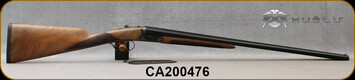 "Huglu - 28Ga/2.75""/26"" - Model 202B Mini - SXS - Grade AA Turkish Walnut English Stock/Case Hardened/Chrome-Lined Barrels, Double Trigger, 5pc. Mobile Choke, SKU# 8681715394800-2, S/N CA200476"