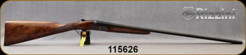 """Rizzini - 28Ga/2.75""""/29"""" - BR550 Round Body - Oil-Finish Turkish Walnut Stock w/ Checkered English Grip, Splinter Forend/Ornamental scroll engraved Case Hardened Scalloped Receiver/Blued Barrels, Single Select Trigger, S/N 115626"""