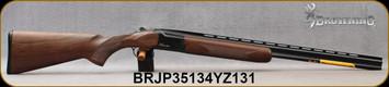 "Browning - 410Ga/3""/26"" - Citori Hunter Grade I - O/U - Satin finish Grade I American walnut stock/Gloss Finish Blued Metal w/Gold Enhancement on Receiver, Three flush choke tubes(F, M, IC), Silver Bead Front Sight, Mfg# 018258914, S/N BRJP35134YZ131"