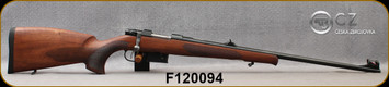 """CZ - 223Rem - Model 527 Lux - Turkish Walnut, Bavarian-Style Stock/Blued, 23.5""""Barrel, Hooded Fiber Optic Front Sight, Integrated 16mm Scope Base, Single Set Trigger, Mfg# 5274-6401-DFTKABX, S/N F120094"""