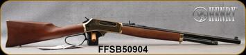 "Henry - 45-70Govt - Lever Brass Octagon - Lever Action Rifle - Walnut Stock & Forend/Brass Receiver/Blued, 22""Octagonal Barrel, 4 Round Capacity, Adjustable Buckhorn Rear/Brass Bead Front Sights, Mfg# H010B, S/N FFSB50904"