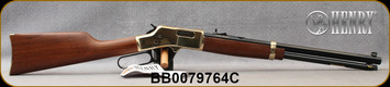 """Henry - 45LC - Big Boy - Lever Action Rifle - American Walnut Stock/Polished Hardened Brass Receiver/Blued, 20"""" Octagon Barrel, 10 Round Capacity, Mfg# H006C, S/N BB0079764C"""