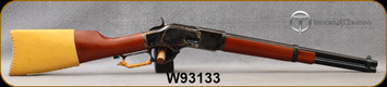 """Taylor's & Co - Uberti - 44-40Win - Model 1873 Runnin Comanchero Carbine - Leaver Action Rifle - Walnut Straight-Grip Stock/Case Hardened Frame/Blued, 16 1/8"""" Round Barrel, Leather Stock Cover & Lever Wrap, Mfg# 0243M, S/N W93133"""