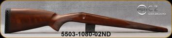 CZ - Model 550 Lux - Stock Only - Turkish Walnut - For 243/308/22-250 w/Detachable magazine (magazine not included w/stock)