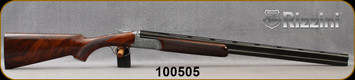 """Rizzini - 16Ga/2.75""""/29"""" - Round Body Deluxe - Boxlock  O/U - Grade 3 Turkish walnut/Coin Finish fully engraved rounded action/Blued, Vent-Rib Barrels, Auto Ejectors, Single Selective Trigger - Bruising to bottom of wood buttplate"""
