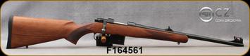 """CZ - 7.62x39 - Model 527 Carbine - Bolt Action Rifle - Turkish Walnut/Blued, 18.5""""Barrel, Single Set Trigger, Hooded Fiber Optic front sight, Mfg# 5274-7304-BFTKABX, S/N F164561"""