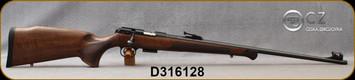 CZ - 22WMR - Model 457 Premium - Select Turkish Walnut w/Ebony Forend Tip/Blued, 24?Cold Hammer Forged, Threaded(1/2x20)Barrel, Tangent Rear sight, Hooded w/Fiber Optic front sight, Mfg# 5084-8882-GKKMAAX