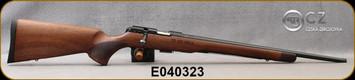 "CZ- 22LR - 457 Royal - Bolt Action Rifle - Bolt Action Rimfire Rifle - Turkish Walnut, European Style Stock/Blued, 20""Threaded Barrel - 5rd Detachable Magazine - Mfg# 5084-8081-HKAMEAX, S/N E040323"