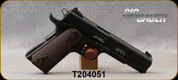 """Consign - Sig Sauer - 22LR HV - 1911-22 - Semi-Auto - Chechered wood grips/Blued finish, 5""""Barrel, 2 magazines, skeletonized trigger - only 200 rounds fired - in original case"""