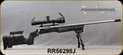 "Consign - Remington - 308Win - 700 Custom - Black w/Grey web B&C stock/Stainless, 26""Fluted, thr.barrel, ATRS custom brake&Bolt handle, glass bedded, Alumina Flip-Cap, Leupold VX-3i LRP, 4.5-14x50, T-MOA, Bubble Level, 6-9""Bipod - 100rds fired"