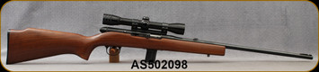 "Consign - Harrington & Richardson - 22WMR - Model 700 - Semi-Auto - Walnut Stock/Blued, 21.5""Barrel, c/w (1)5rd magazine,(1)10rd magazine, Redfield 4x Scope, Plex reticle"
