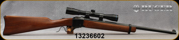 """Consign - Ruger - 45-70Govt - Model No.3 - Walnut Stock/Blued, 22""""Barrel, c/w Nikko Stirling, Mountmaster 4x32mm, Plex reticle - Only 80 rounds fired"""